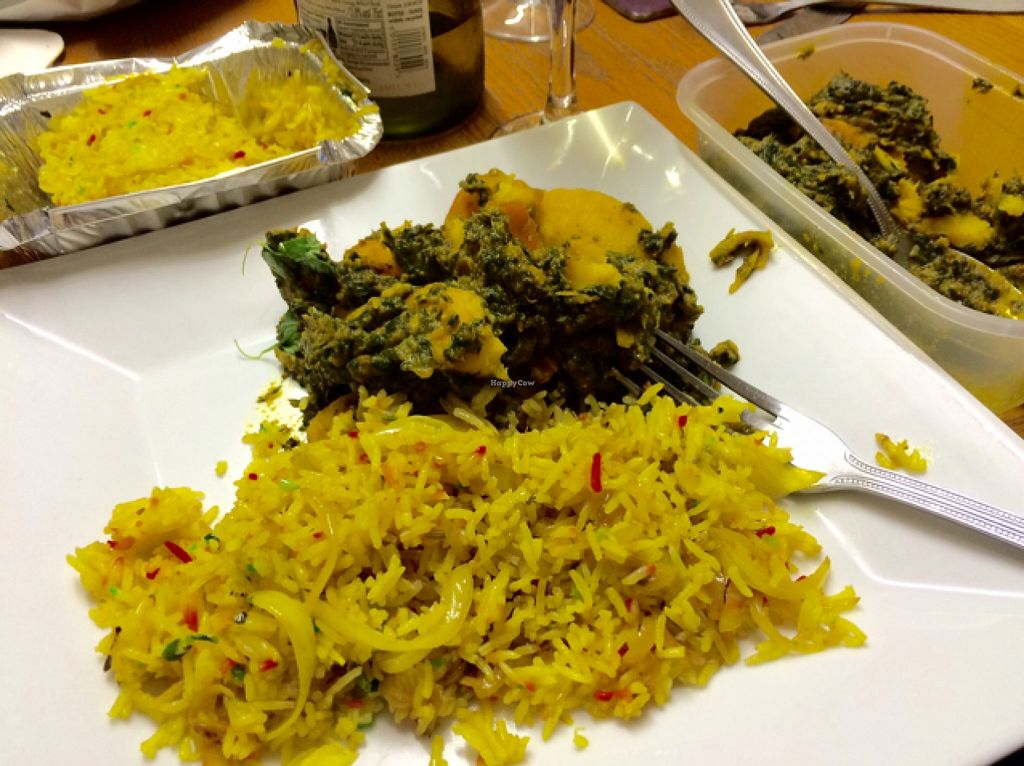 "Photo of Indian Cottage  by <a href=""/members/profile/CiaraSlevin"">CiaraSlevin</a> <br/>Potato and spinach sag aloo with onion rice <br/> October 3, 2015  - <a href='/contact/abuse/image/64154/120030'>Report</a>"
