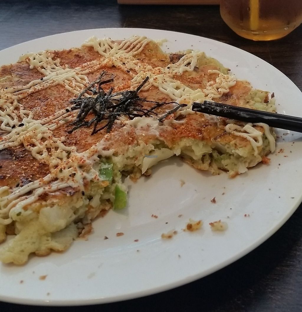 """Photo of Vegeme  by <a href=""""/members/profile/amc4012"""">amc4012</a> <br/>Japanese Okonomiyaki. Can be Vegan or Vegetarian <br/> March 29, 2017  - <a href='/contact/abuse/image/64155/251831'>Report</a>"""