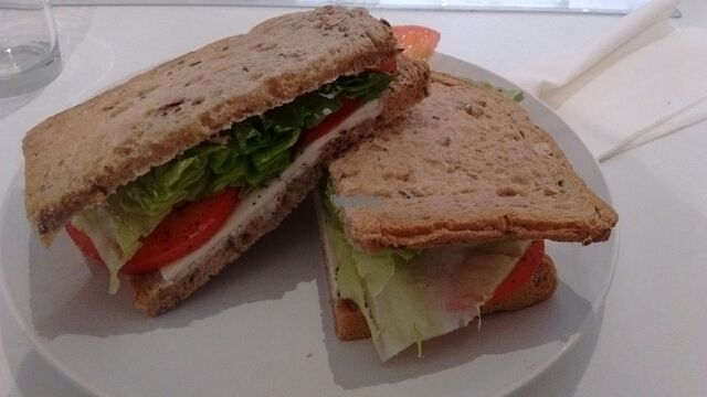 """Photo of Peace Cafe  by <a href=""""/members/profile/DedouLucile"""">DedouLucile</a> <br/>Salad and vegan cheese toastie with multigrain bread and no cucumber <br/> September 3, 2016  - <a href='/contact/abuse/image/64160/173234'>Report</a>"""