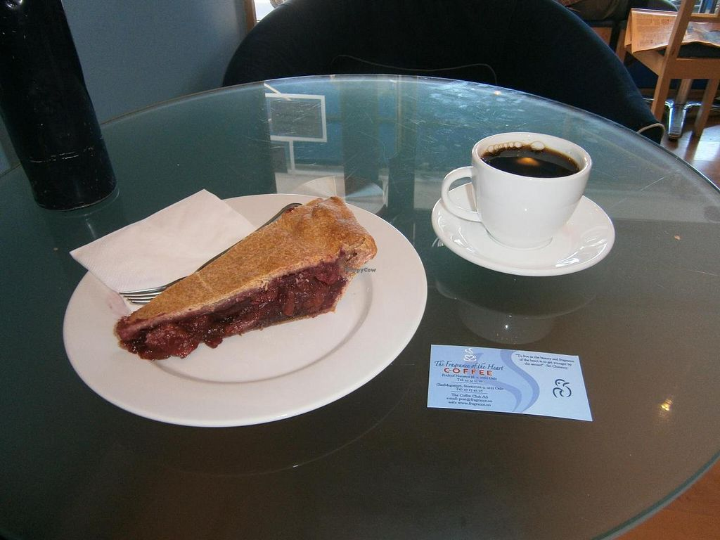 """Photo of The Fragrance of the Heart - Fritjof Nansens Plass  by <a href=""""/members/profile/imogenmichel"""">imogenmichel</a> <br/>Vegan apple-cherry pie and coffee <br/> July 23, 2014  - <a href='/contact/abuse/image/6418/74783'>Report</a>"""