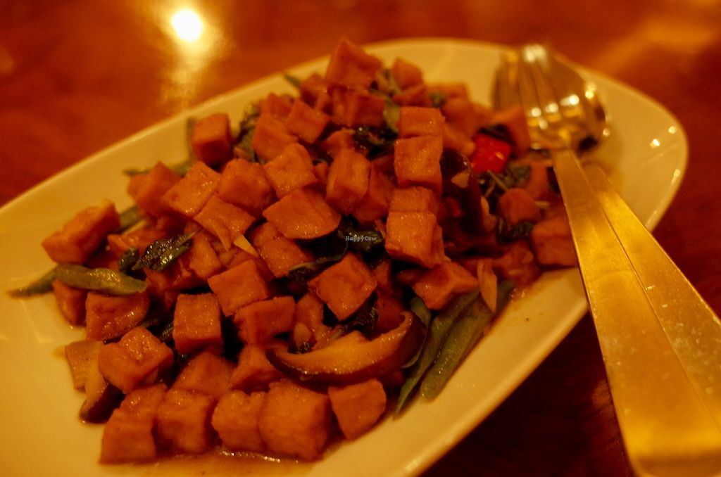 """Photo of Thanying Restaurant - Amara Hotel  by <a href=""""/members/profile/ouikouik"""">ouikouik</a> <br/>some kind of tofu cubes <br/> October 7, 2015  - <a href='/contact/abuse/image/64190/120602'>Report</a>"""
