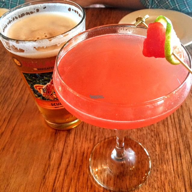 "Photo of Green Elephant Vegetarian Bistro & Bar  by <a href=""/members/profile/Hannahg"">Hannahg</a> <br/>watermelon marg! <br/> October 11, 2016  - <a href='/contact/abuse/image/64198/181299'>Report</a>"