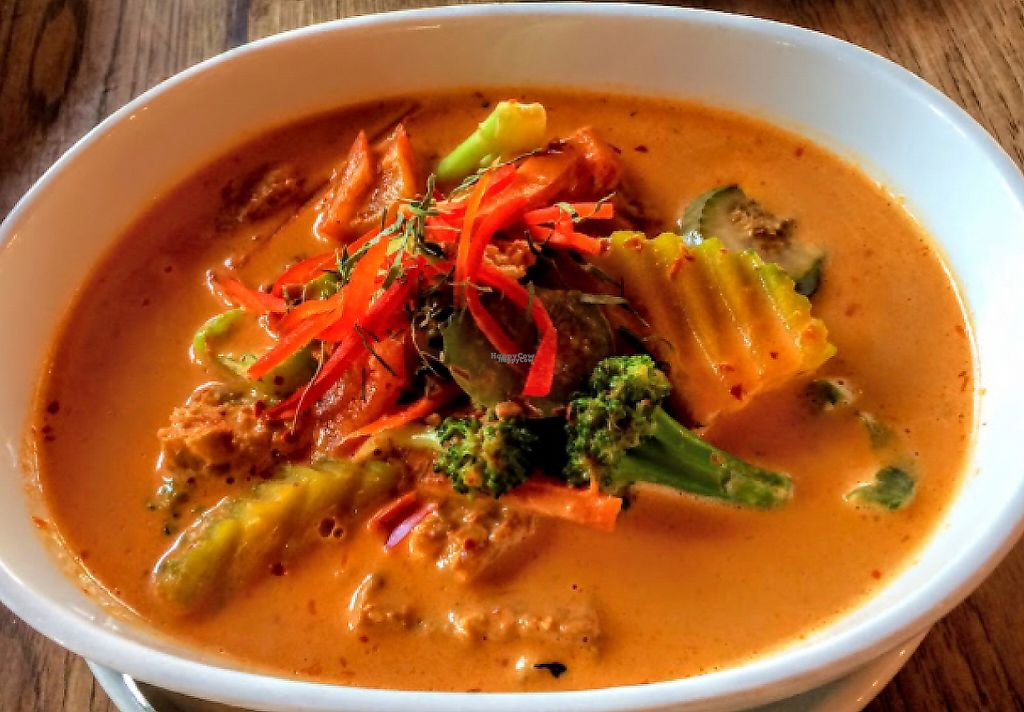 "Photo of Green Elephant Vegetarian Bistro & Bar  by <a href=""/members/profile/Hannahg"">Hannahg</a> <br/>eggplant curry! <br/> October 11, 2016  - <a href='/contact/abuse/image/64198/208476'>Report</a>"