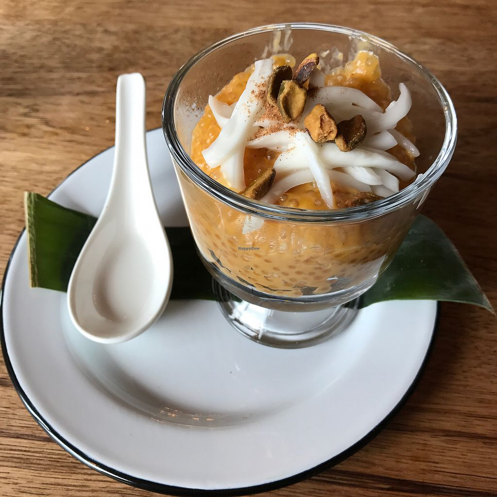 "Photo of Green Elephant Vegetarian Bistro & Bar  by <a href=""/members/profile/Sarah%20P"">Sarah P</a> <br/>Pumpkin tapioca pudding <br/> September 26, 2017  - <a href='/contact/abuse/image/64198/308548'>Report</a>"