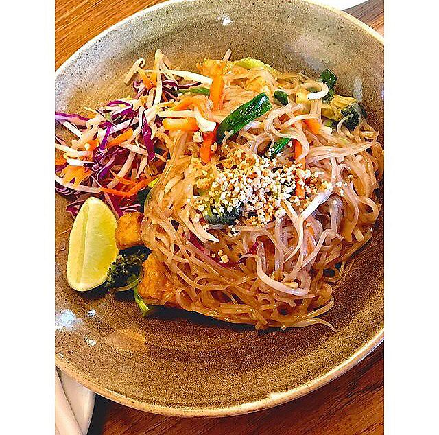 "Photo of Green Elephant Vegetarian Bistro & Bar  by <a href=""/members/profile/Hannahg"">Hannahg</a> <br/>Pad Thai!! <br/> October 28, 2017  - <a href='/contact/abuse/image/64198/319461'>Report</a>"