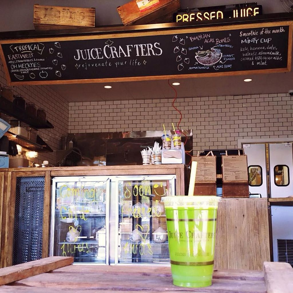 """Photo of Juice Crafters - Griffith Park  by <a href=""""/members/profile/community"""">community</a> <br/>green smoothie  <br/> October 17, 2015  - <a href='/contact/abuse/image/64213/121659'>Report</a>"""