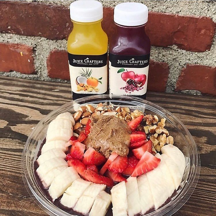 """Photo of Juice Crafters - Griffith Park  by <a href=""""/members/profile/JuiceCrafters"""">JuiceCrafters</a> <br/>ACAI PROTEIN BOWL – Amazonian Acai, vanilla protein, banana, strawberries, almonds, walnuts & almond butter <br/> December 11, 2017  - <a href='/contact/abuse/image/64213/334522'>Report</a>"""