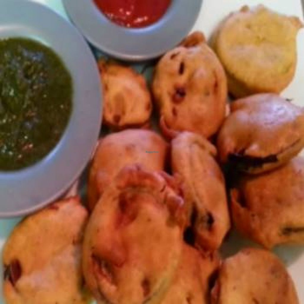 """Photo of Truly India  by <a href=""""/members/profile/community"""">community</a> <br/>eggplant pakoras <br/> October 15, 2015  - <a href='/contact/abuse/image/64235/121402'>Report</a>"""