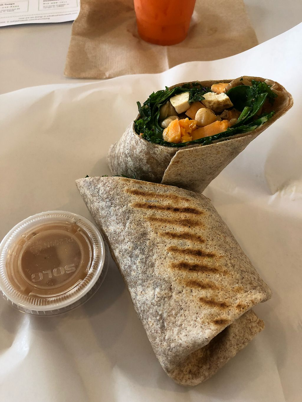 "Photo of So Fresh - E Fowler Ave  by <a href=""/members/profile/Mattsgirlelle"">Mattsgirlelle</a> <br/>Veggie wrap (minus the tzatzki sauce) added tofu and balsamic. So good <br/> March 10, 2018  - <a href='/contact/abuse/image/64240/368938'>Report</a>"