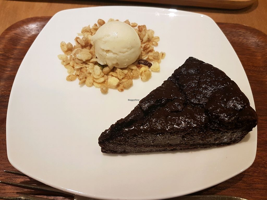 """Photo of Sekai Cafe   by <a href=""""/members/profile/Leylnaz"""">Leylnaz</a> <br/>tofu chocolate cake <br/> October 3, 2017  - <a href='/contact/abuse/image/64245/311336'>Report</a>"""