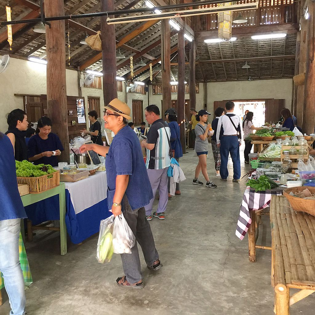 """Photo of Organic Farmers' Market Chiang Mai  by <a href=""""/members/profile/MyVeganJoy"""">MyVeganJoy</a> <br/>friendly community  <br/> February 12, 2017  - <a href='/contact/abuse/image/6424/225663'>Report</a>"""