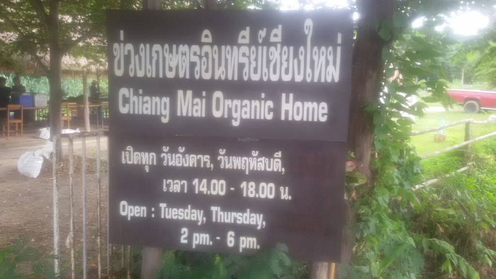 """Photo of Chiang Mai Organic Home Market  by <a href=""""/members/profile/MissLucy"""">MissLucy</a> <br/>Organic Home Sign <br/> October 30, 2015  - <a href='/contact/abuse/image/64263/123282'>Report</a>"""