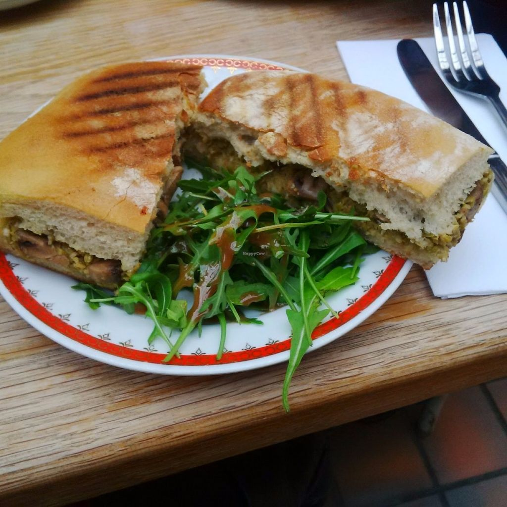 """Photo of Oak Street Cafe  by <a href=""""/members/profile/Veganolive1"""">Veganolive1</a> <br/>Mushroom toasted with olive and almond pesto <br/> June 20, 2016  - <a href='/contact/abuse/image/64268/155171'>Report</a>"""