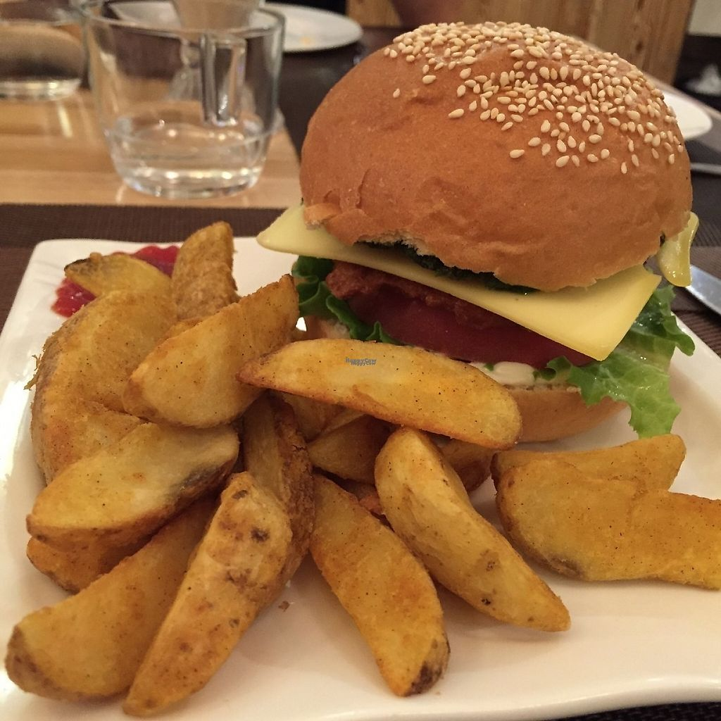 """Photo of Cloud Kitchen  by <a href=""""/members/profile/HaileyPoLa"""">HaileyPoLa</a> <br/>Burger with potato wedges  <br/> March 6, 2017  - <a href='/contact/abuse/image/64283/233365'>Report</a>"""