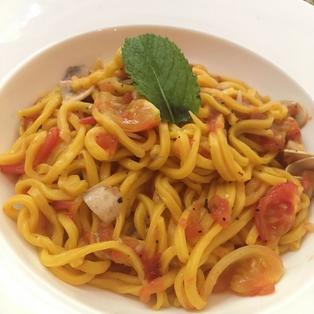 """Photo of Cloud Kitchen  by <a href=""""/members/profile/SuBravo"""">SuBravo</a> <br/>tomato and mushrooms pasta  <br/> July 12, 2017  - <a href='/contact/abuse/image/64283/279318'>Report</a>"""