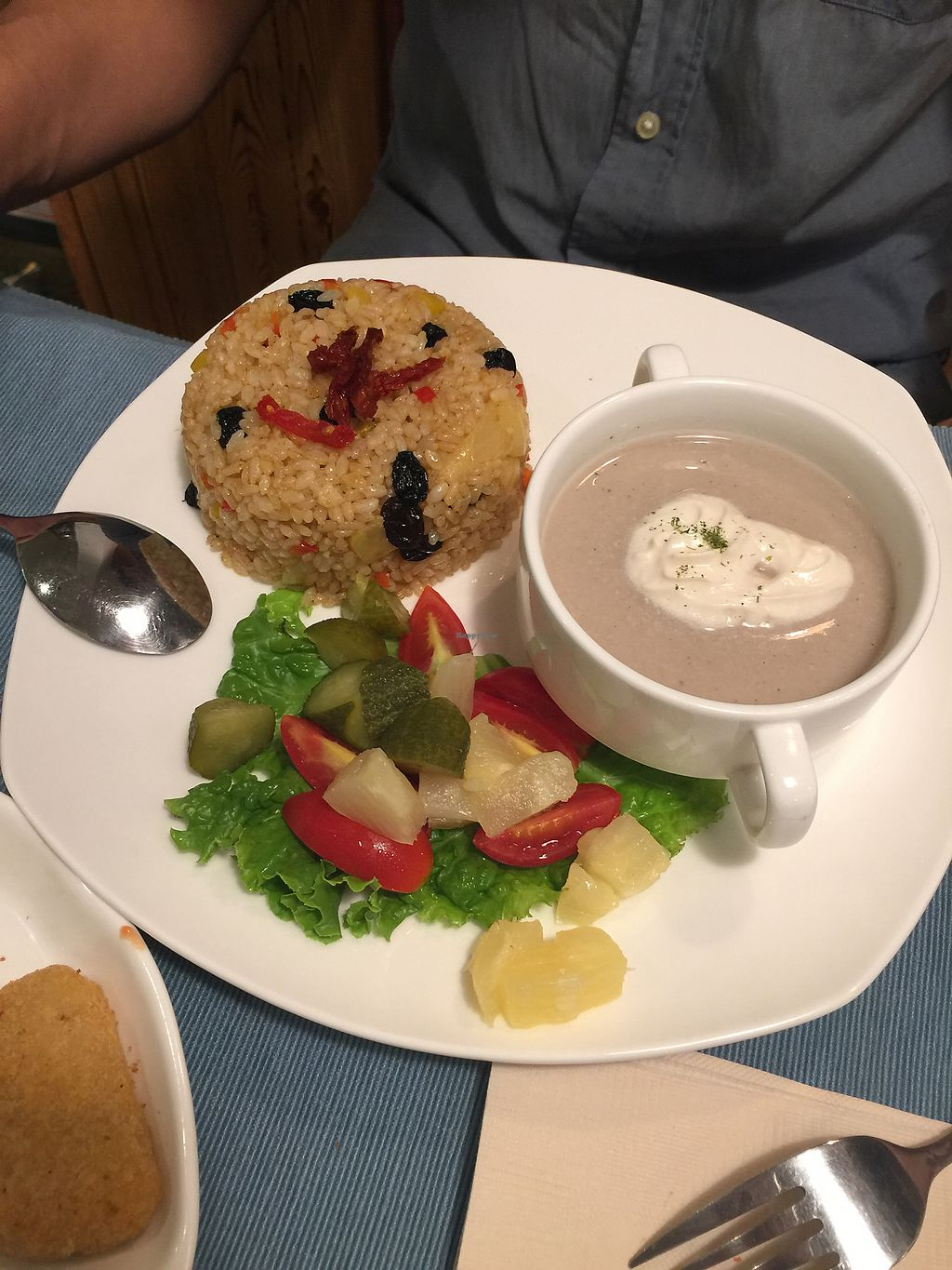 """Photo of Cloud Kitchen  by <a href=""""/members/profile/DanielleRosander"""">DanielleRosander</a> <br/>mushroom soup was underwhelming, rice seems suited for chinese tastes <br/> September 16, 2017  - <a href='/contact/abuse/image/64283/304981'>Report</a>"""