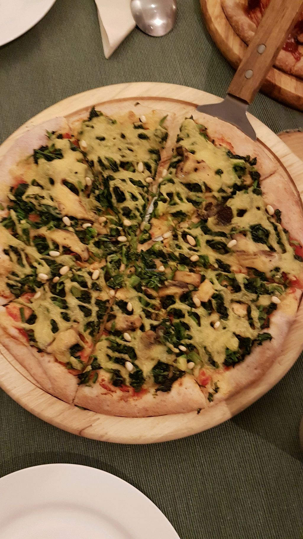 """Photo of Cloud Kitchen  by <a href=""""/members/profile/ElisabethF%C3%A9line"""">ElisabethFéline</a> <br/>spinach pizza <br/> April 7, 2018  - <a href='/contact/abuse/image/64283/381769'>Report</a>"""