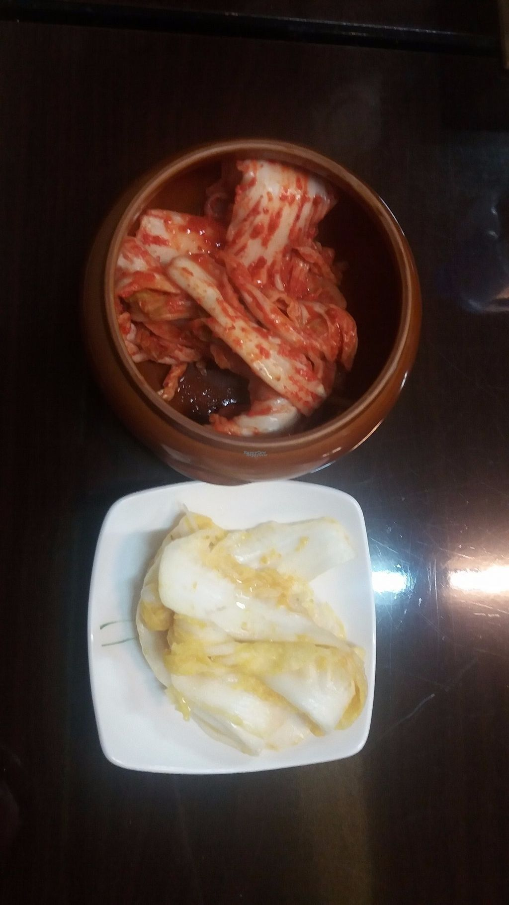 """Photo of Chorokddeul - Green Field - 초록뜰식당  by <a href=""""/members/profile/rburrke"""">rburrke</a> <br/>red and white kimchi <br/> October 10, 2016  - <a href='/contact/abuse/image/64286/180953'>Report</a>"""