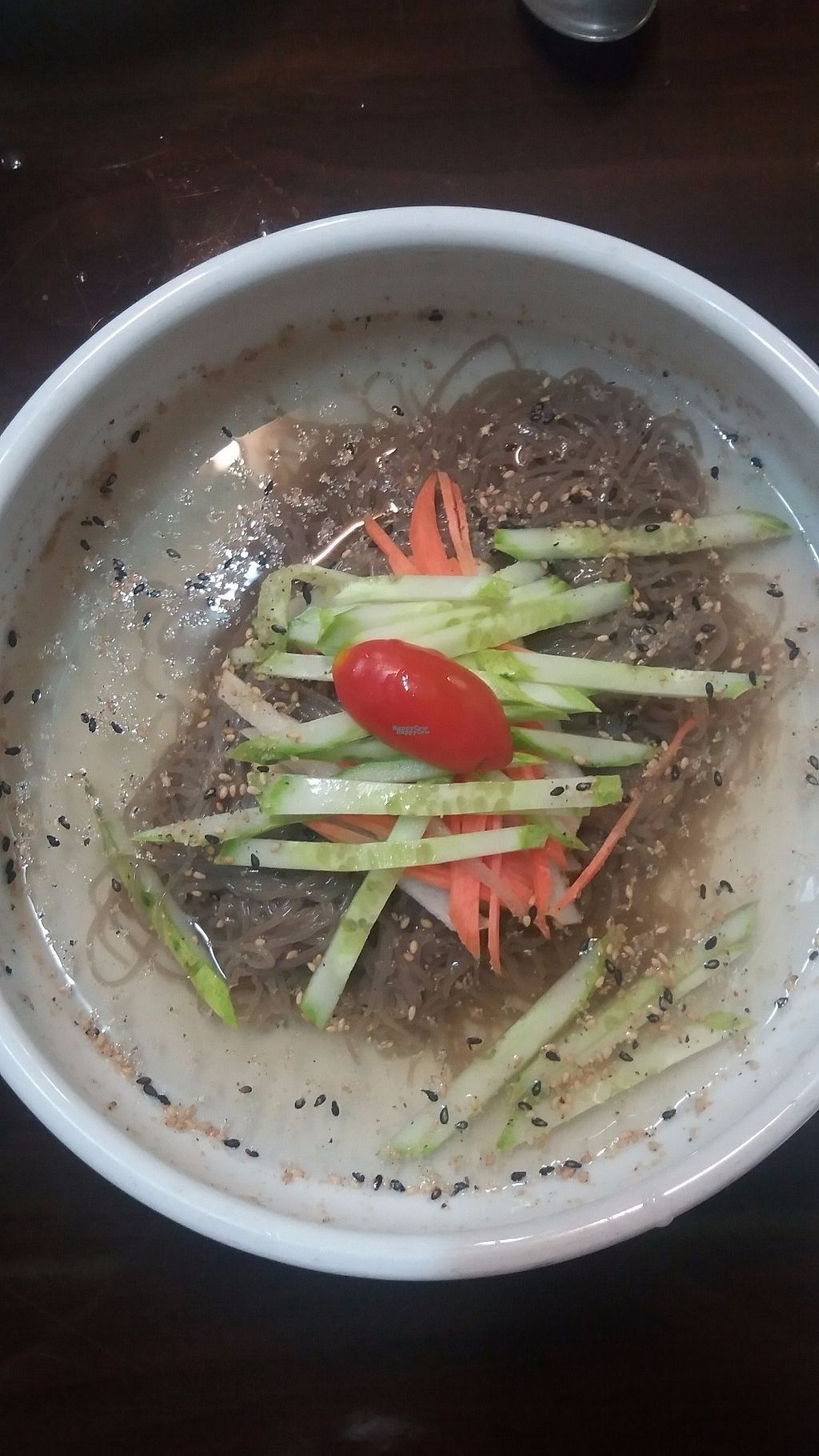 """Photo of Chorokddeul - Green Field - 초록뜰식당  by <a href=""""/members/profile/rburrke"""">rburrke</a> <br/>Cold noodle soup is perfect on a hot day <br/> October 10, 2016  - <a href='/contact/abuse/image/64286/180955'>Report</a>"""