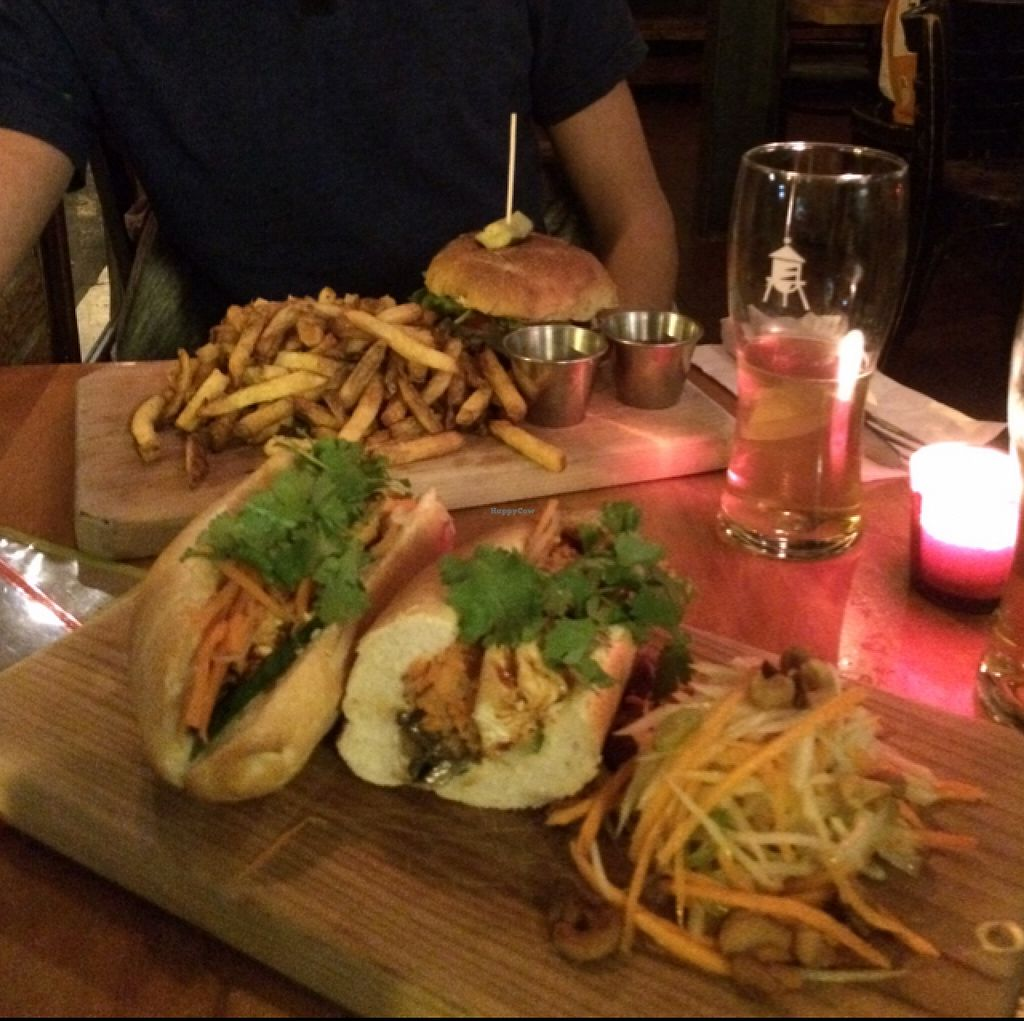 """Photo of REMOVED: Le Reservoir  by <a href=""""/members/profile/helene%20drouin"""">helene drouin</a> <br/>banh mi with papaya salad and veggie burger with fries <br/> October 8, 2015  - <a href='/contact/abuse/image/64313/120630'>Report</a>"""