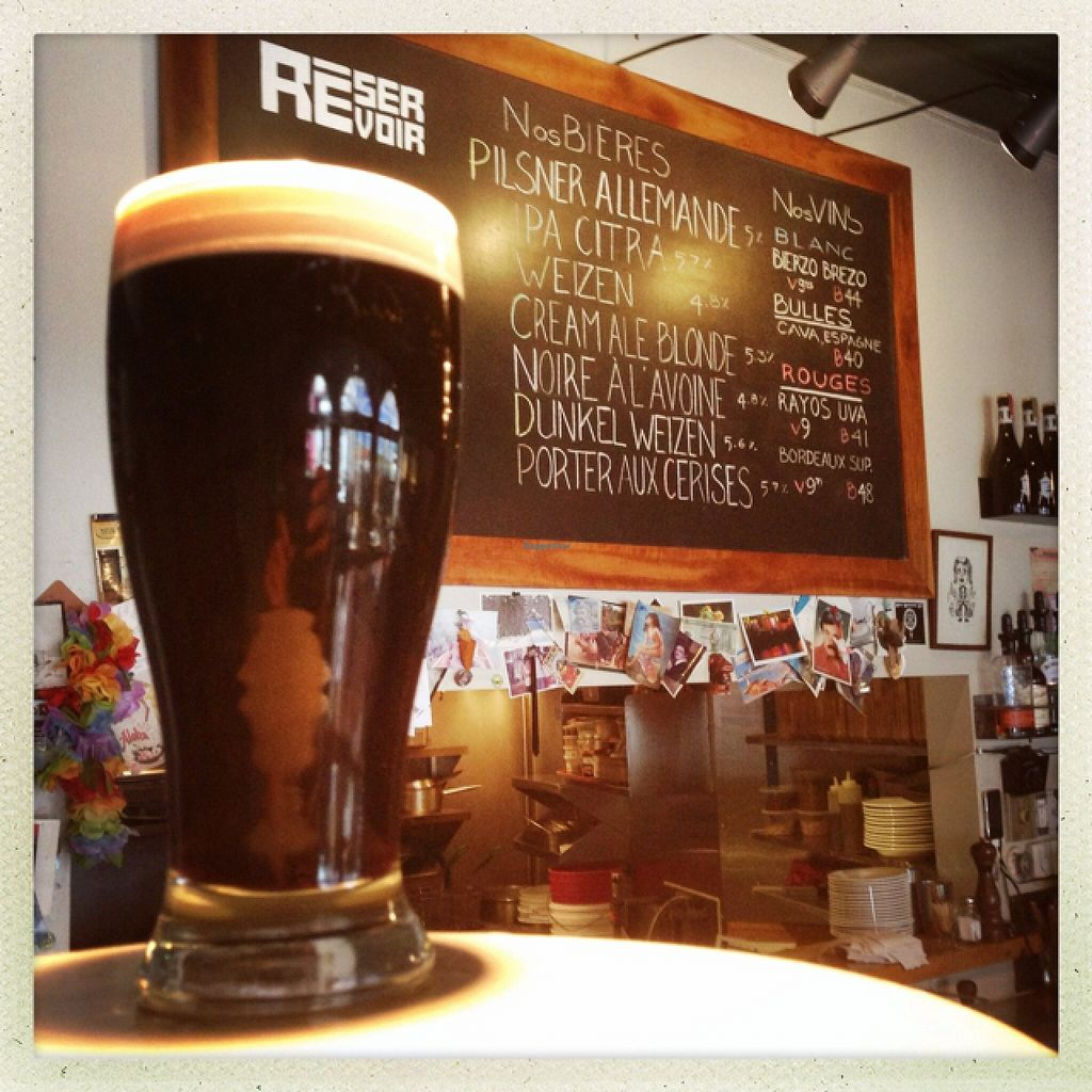 """Photo of REMOVED: Le Reservoir  by <a href=""""/members/profile/helene%20drouin"""">helene drouin</a> <br/>beer menu <br/> October 8, 2015  - <a href='/contact/abuse/image/64313/120631'>Report</a>"""