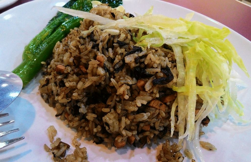 """Photo of CLOSED: Vegan Paradise Food Stall  by <a href=""""/members/profile/Peace%20..."""">Peace ...</a> <br/>Olive Fried Rice <br/> December 31, 2015  - <a href='/contact/abuse/image/64318/130551'>Report</a>"""