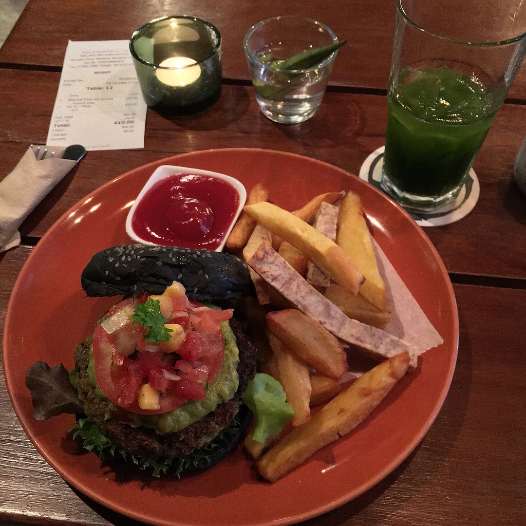 """Photo of Broccoli Revolution - Sukhumvit Rd  by <a href=""""/members/profile/Laststrawmovement"""">Laststrawmovement</a> <br/> Vegan burger - one of the best I've had <br/> October 6, 2017  - <a href='/contact/abuse/image/64334/312161'>Report</a>"""