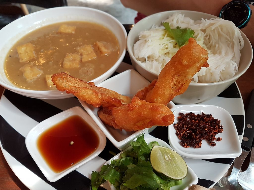 """Photo of Broccoli Revolution - Sukhumvit Rd  by <a href=""""/members/profile/vfantasy"""">vfantasy</a> <br/>Myammar noodles <br/> October 24, 2017  - <a href='/contact/abuse/image/64334/318386'>Report</a>"""