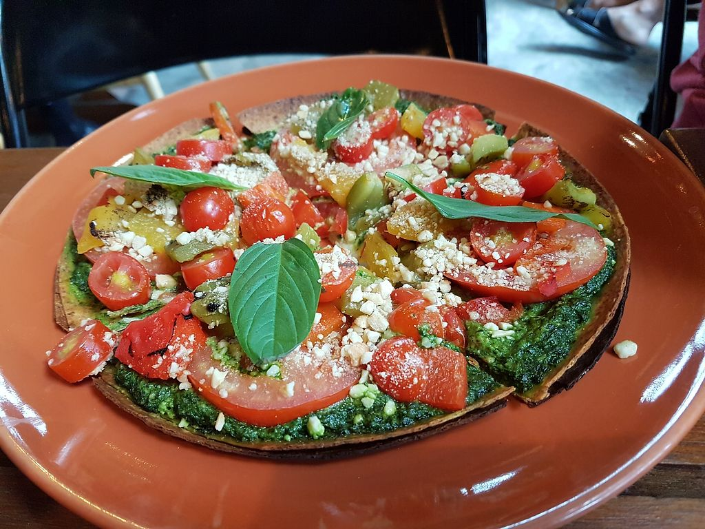"""Photo of Broccoli Revolution - Sukhumvit Rd  by <a href=""""/members/profile/vfantasy"""">vfantasy</a> <br/>Pesto pizza <br/> October 24, 2017  - <a href='/contact/abuse/image/64334/318389'>Report</a>"""