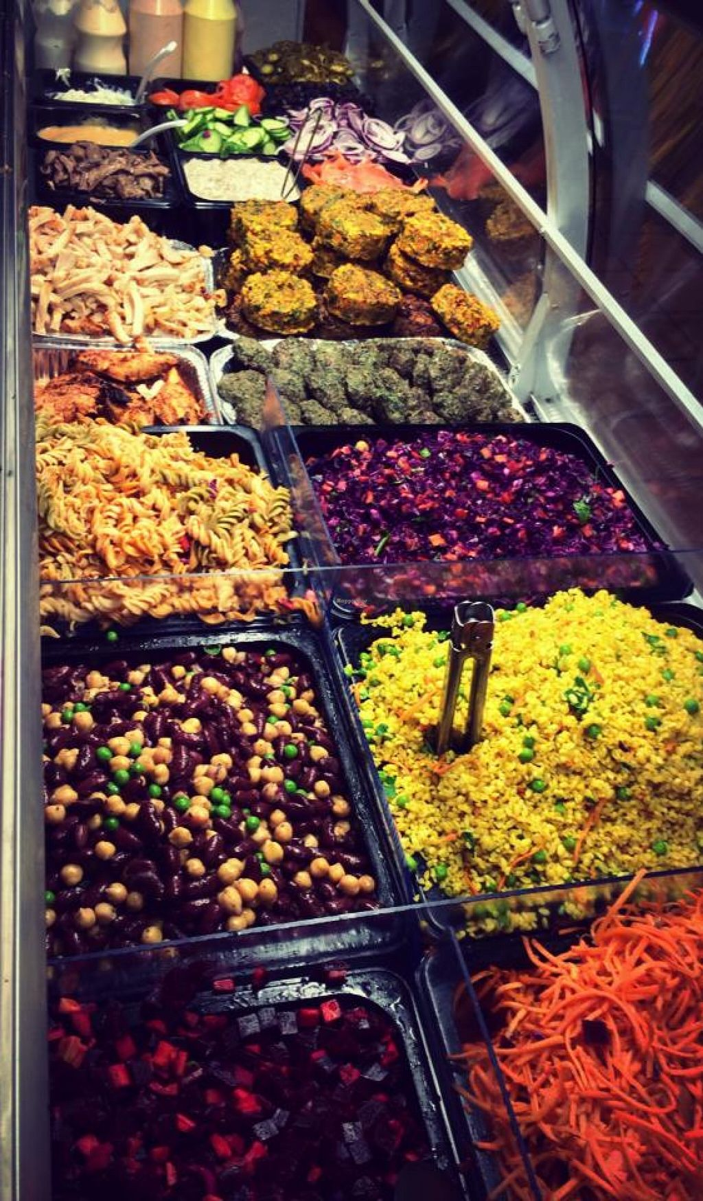"""Photo of HAPS  by <a href=""""/members/profile/Milagv"""">Milagv</a> <br/>Variety of fresh salads. The salads sometimes change, but there is always hummus and tzatziki :) <br/> October 10, 2015  - <a href='/contact/abuse/image/64350/120902'>Report</a>"""