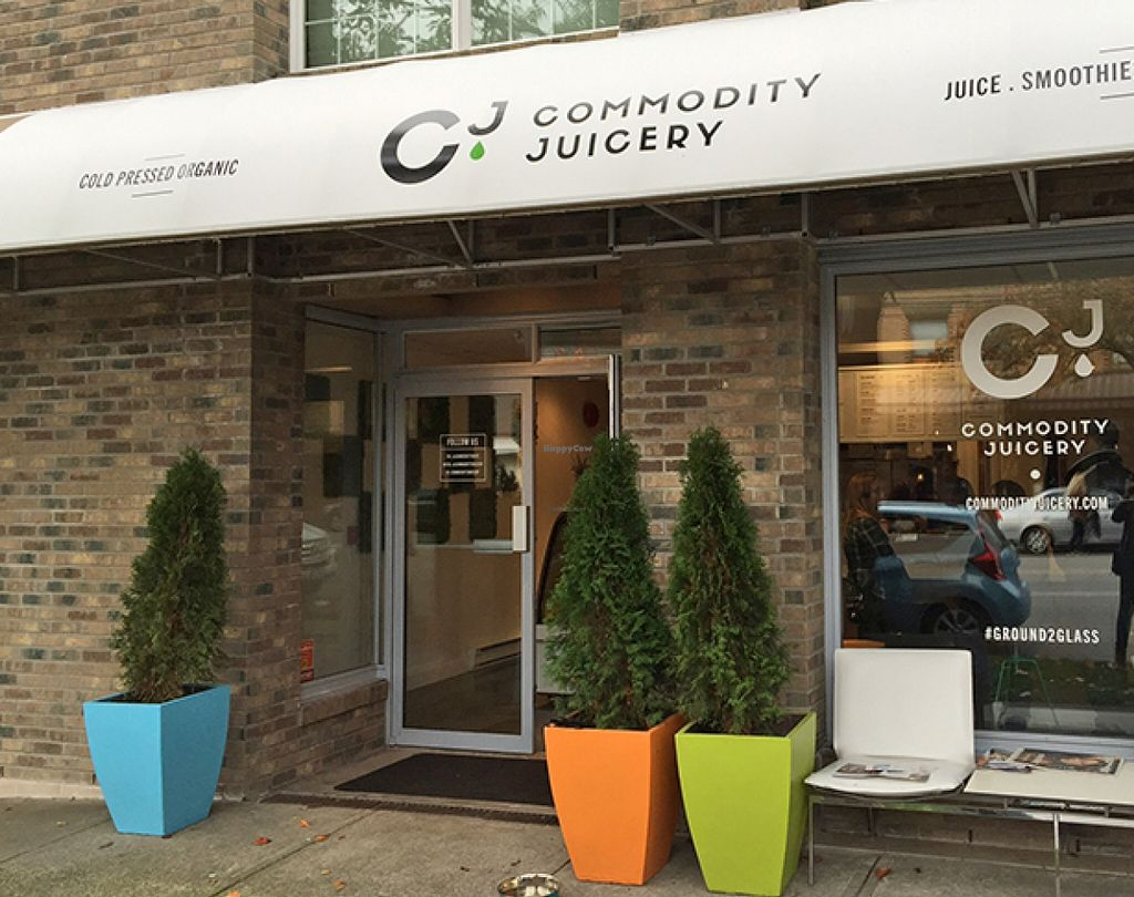 """Photo of Commodity Juicery  by <a href=""""/members/profile/Wheat-free%20Vegan"""">Wheat-free Vegan</a> <br/>Commodity Juicery on Fraser Street in Vancouver <br/> November 12, 2015  - <a href='/contact/abuse/image/64357/124781'>Report</a>"""