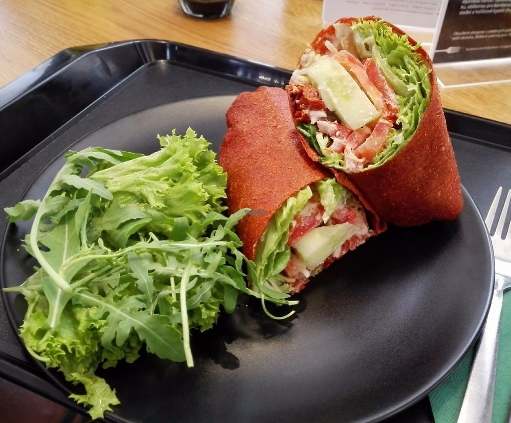 """Photo of Forky's  by <a href=""""/members/profile/clearskify"""">clearskify</a> <br/>My favourite: raw veggie wrap with cashew cheese in vegetable leather! <br/> August 6, 2016  - <a href='/contact/abuse/image/64363/236198'>Report</a>"""
