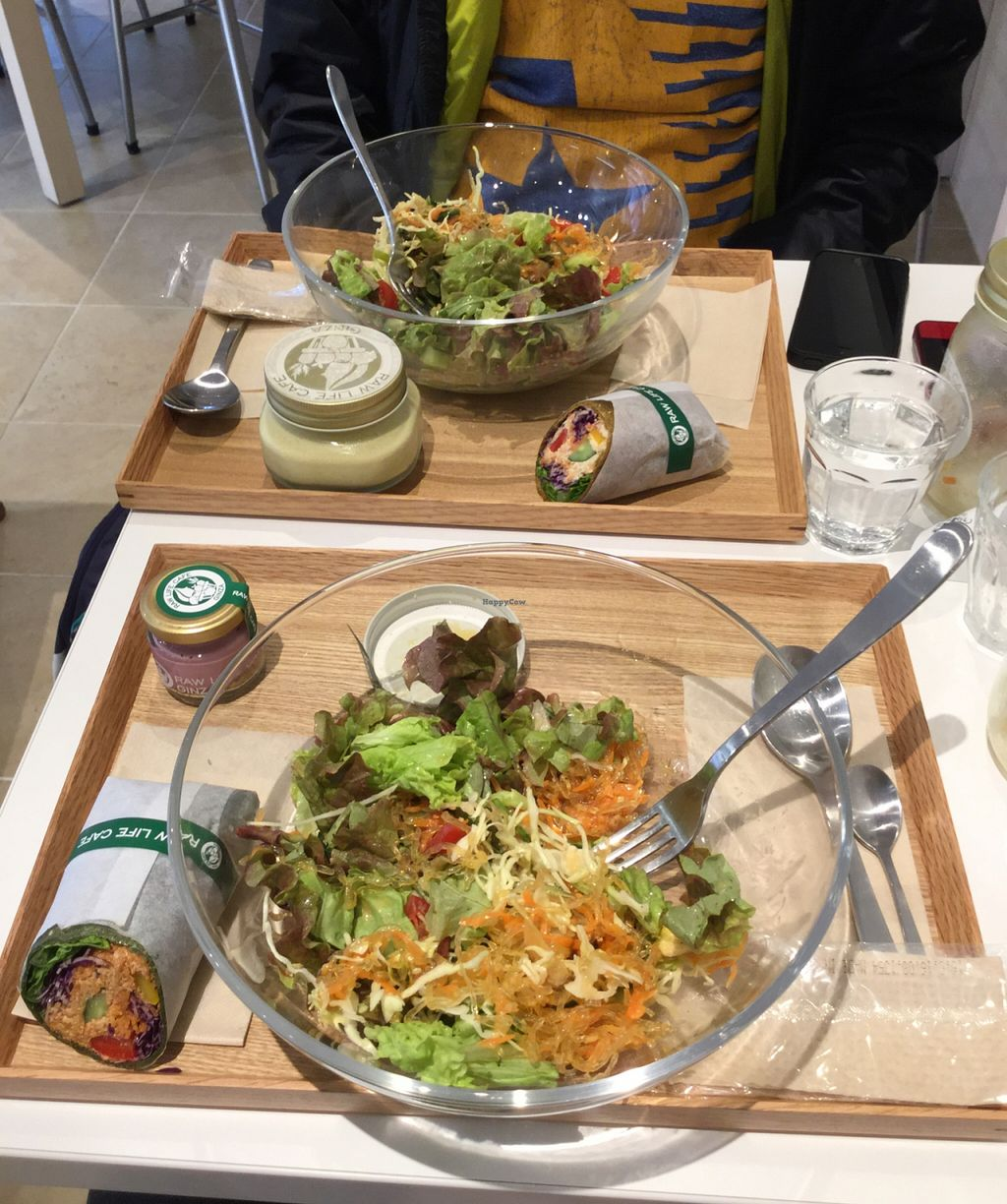 "Photo of CLOSED: Ginza Raw Life Cafe  by <a href=""/members/profile/SpokeyDoke"">SpokeyDoke</a> <br/>Korean salads, with wraps, blueberry cheesecake and corn soup, all very tasty! <br/> April 7, 2016  - <a href='/contact/abuse/image/64451/143265'>Report</a>"
