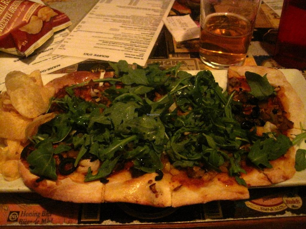 """Photo of Broue Pub Brouhaha  by <a href=""""/members/profile/Babette"""">Babette</a> <br/>Vegan Pizza <br/> October 18, 2015  - <a href='/contact/abuse/image/64458/121760'>Report</a>"""