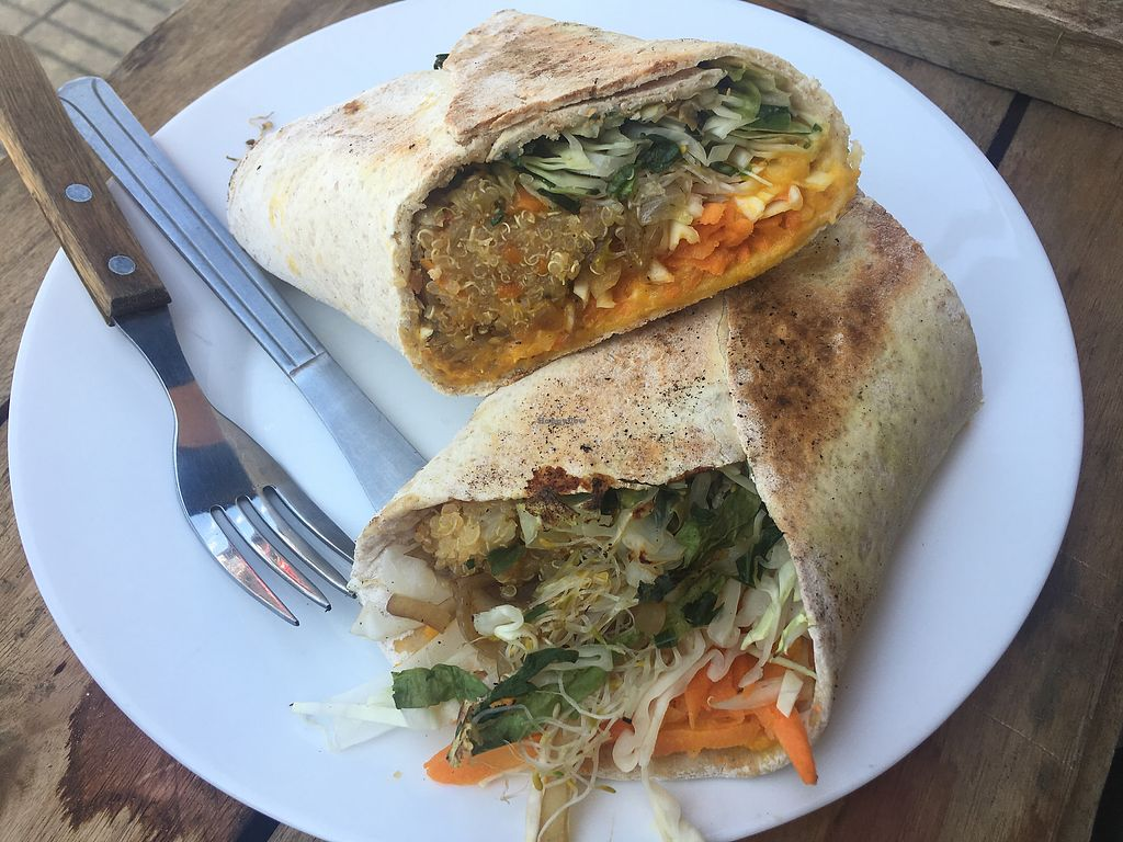 "Photo of Vegan Wraps  by <a href=""/members/profile/JoelCitulski"">JoelCitulski</a> <br/>Quinoa wrap  <br/> January 10, 2018  - <a href='/contact/abuse/image/64472/345093'>Report</a>"