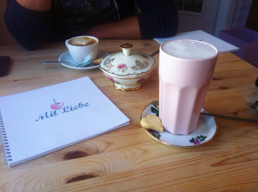"""Photo of Mit Liebe - Kreativcafe   by <a href=""""/members/profile/Linsen"""">Linsen</a> <br/>Chai Latte with soy milk <br/> October 21, 2015  - <a href='/contact/abuse/image/64478/122032'>Report</a>"""