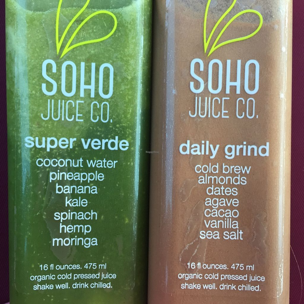 """Photo of SoHo Juice  by <a href=""""/members/profile/purelysamantha"""">purelysamantha</a> <br/>the super verde and the daily grind <br/> October 18, 2015  - <a href='/contact/abuse/image/64485/121737'>Report</a>"""