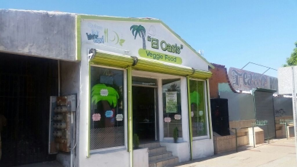 """Photo of CLOSED: El Oasis Veggie Food  by <a href=""""/members/profile/kenvegan"""">kenvegan</a> <br/>outside <br/> October 14, 2015  - <a href='/contact/abuse/image/64492/121335'>Report</a>"""