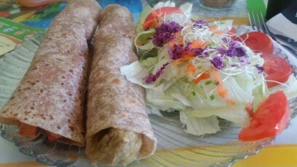 "Photo of CLOSED: El Oasis Veggie Food  by <a href=""/members/profile/kenvegan"">kenvegan</a> <br/>vegan chicken burrito <br/> October 14, 2015  - <a href='/contact/abuse/image/64492/121339'>Report</a>"