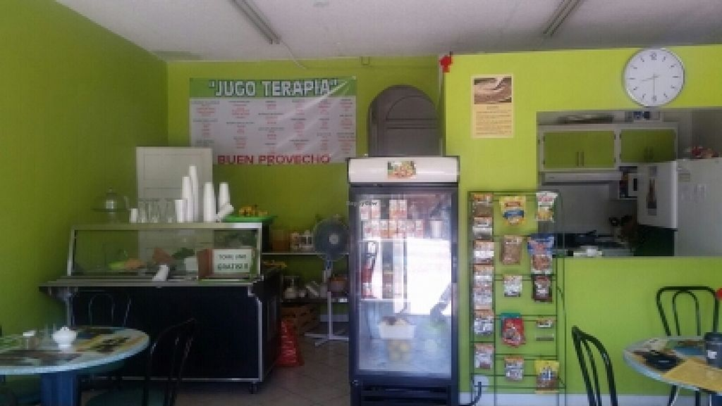 """Photo of CLOSED: El Oasis Veggie Food  by <a href=""""/members/profile/kenvegan"""">kenvegan</a> <br/>inside <br/> October 14, 2015  - <a href='/contact/abuse/image/64492/121340'>Report</a>"""