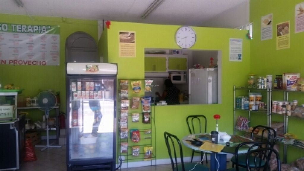 """Photo of CLOSED: El Oasis Veggie Food  by <a href=""""/members/profile/kenvegan"""">kenvegan</a> <br/>inside <br/> October 14, 2015  - <a href='/contact/abuse/image/64492/121342'>Report</a>"""