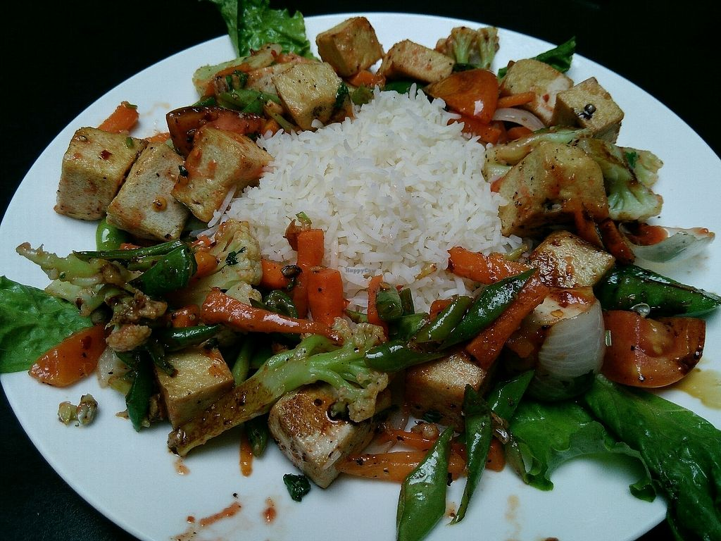 """Photo of Aniyor Vegetarian Restaurant  by <a href=""""/members/profile/droryahalom"""">droryahalom</a> <br/>tofu stir fry <br/> October 6, 2017  - <a href='/contact/abuse/image/64501/312230'>Report</a>"""
