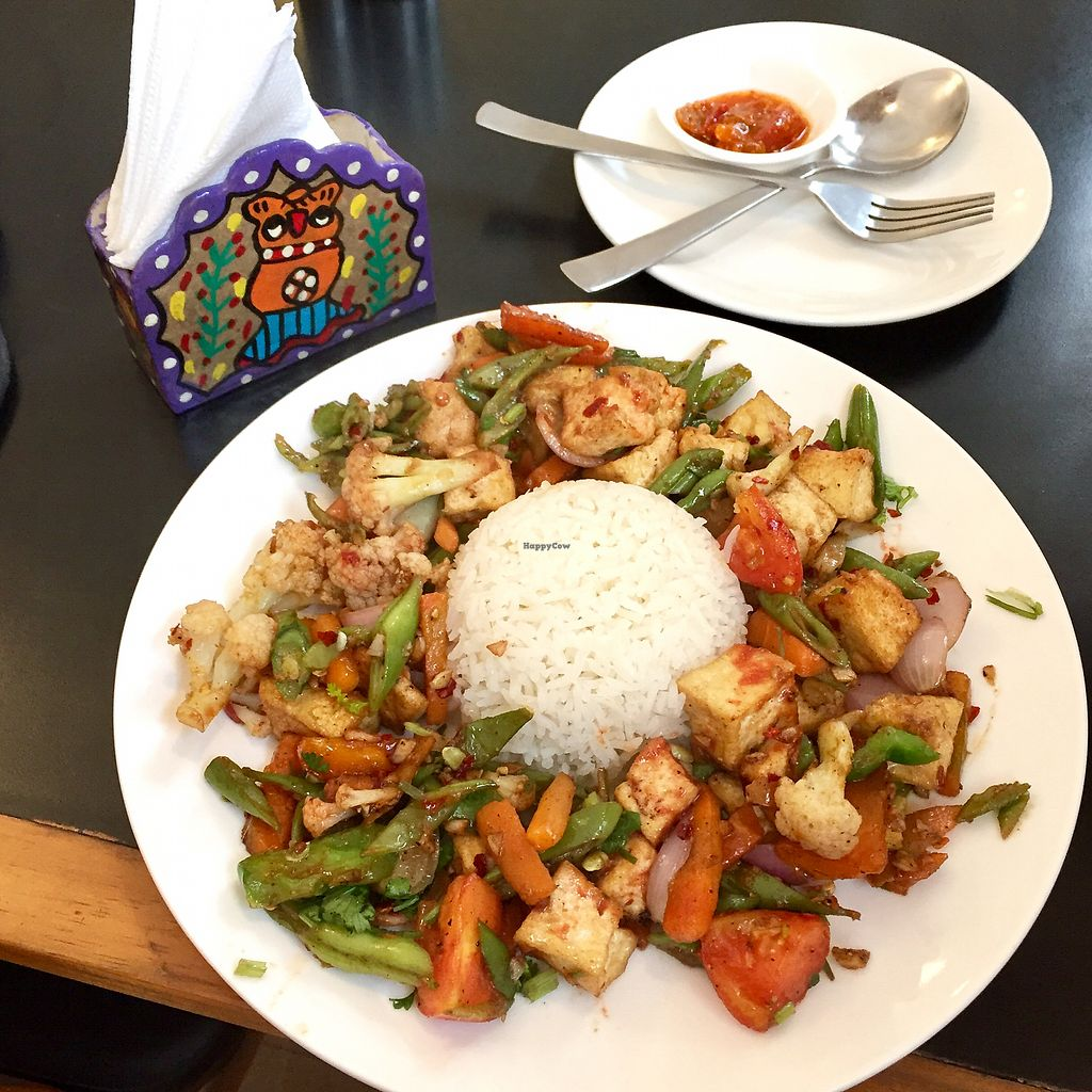 """Photo of Aniyor Vegetarian Restaurant  by <a href=""""/members/profile/peterstuckings"""">peterstuckings</a> <br/>Stirfry tofu and veg <br/> January 31, 2018  - <a href='/contact/abuse/image/64501/353126'>Report</a>"""