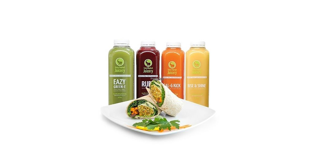 """Photo of Green Elephant Juicery Drive Thru  by <a href=""""/members/profile/osha7"""">osha7</a> <br/>Organic Cold Pressed Juices and Vegan Foods <br/> January 10, 2017  - <a href='/contact/abuse/image/64528/210402'>Report</a>"""