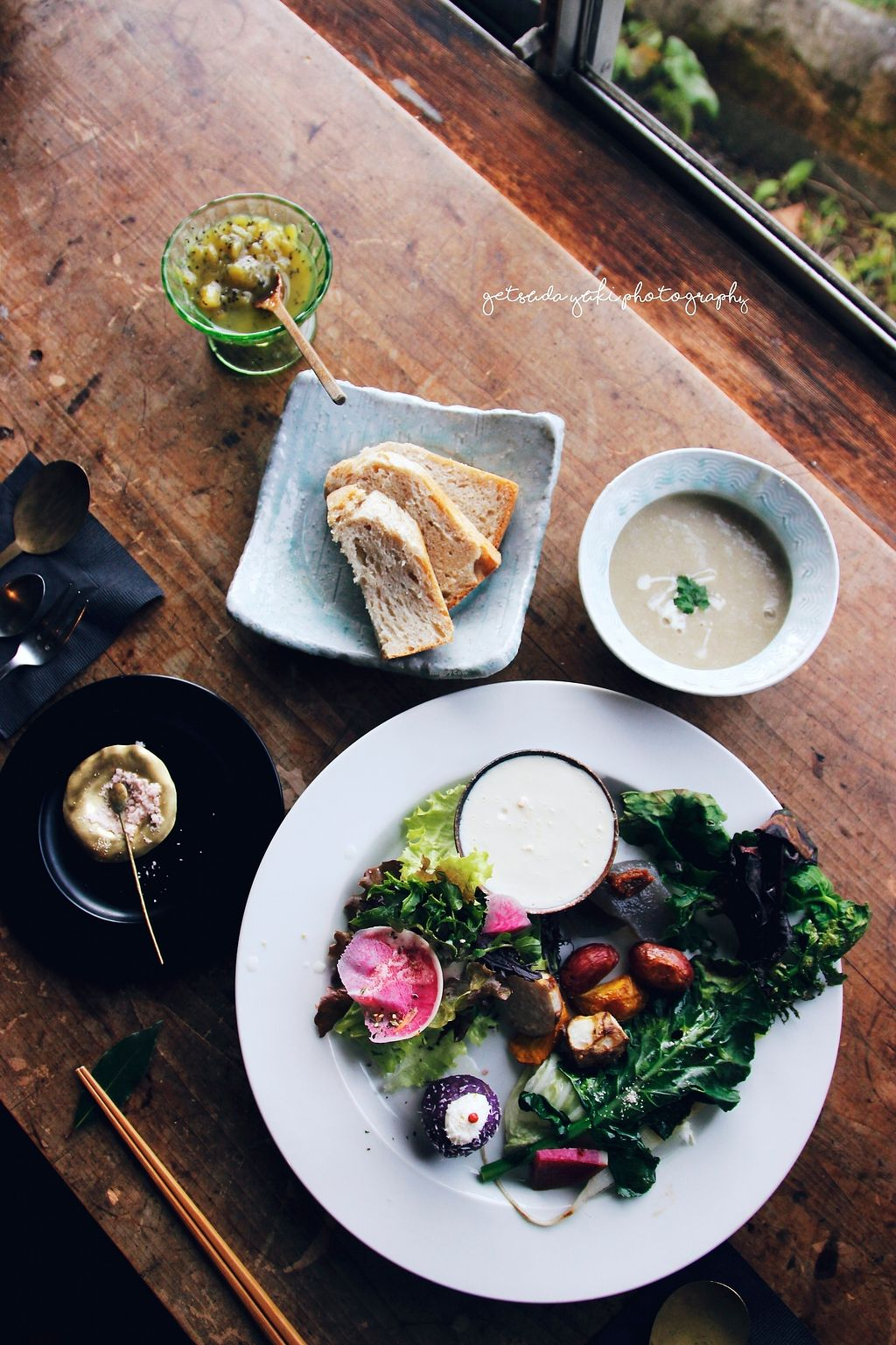 """Photo of Cafe Millet  by <a href=""""/members/profile/YukiLim"""">YukiLim</a> <br/>Lunch plate with fresh seasonal vegetables, homemade kiwi jam and bread, potato soup from Cafe Millet <br/> July 16, 2017  - <a href='/contact/abuse/image/64558/280878'>Report</a>"""