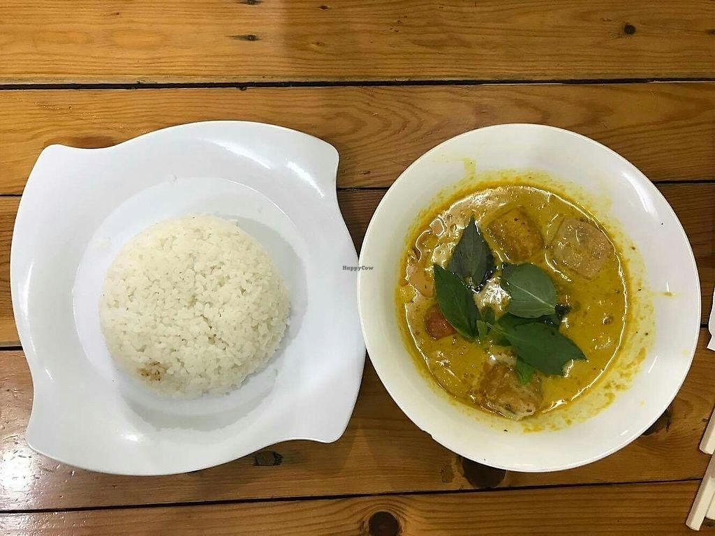 """Photo of Chan Nhu II  by <a href=""""/members/profile/turnvegan"""">turnvegan</a> <br/>Curry and rice (25k dongs), small portion but food acceptable <br/> July 27, 2017  - <a href='/contact/abuse/image/64584/285486'>Report</a>"""