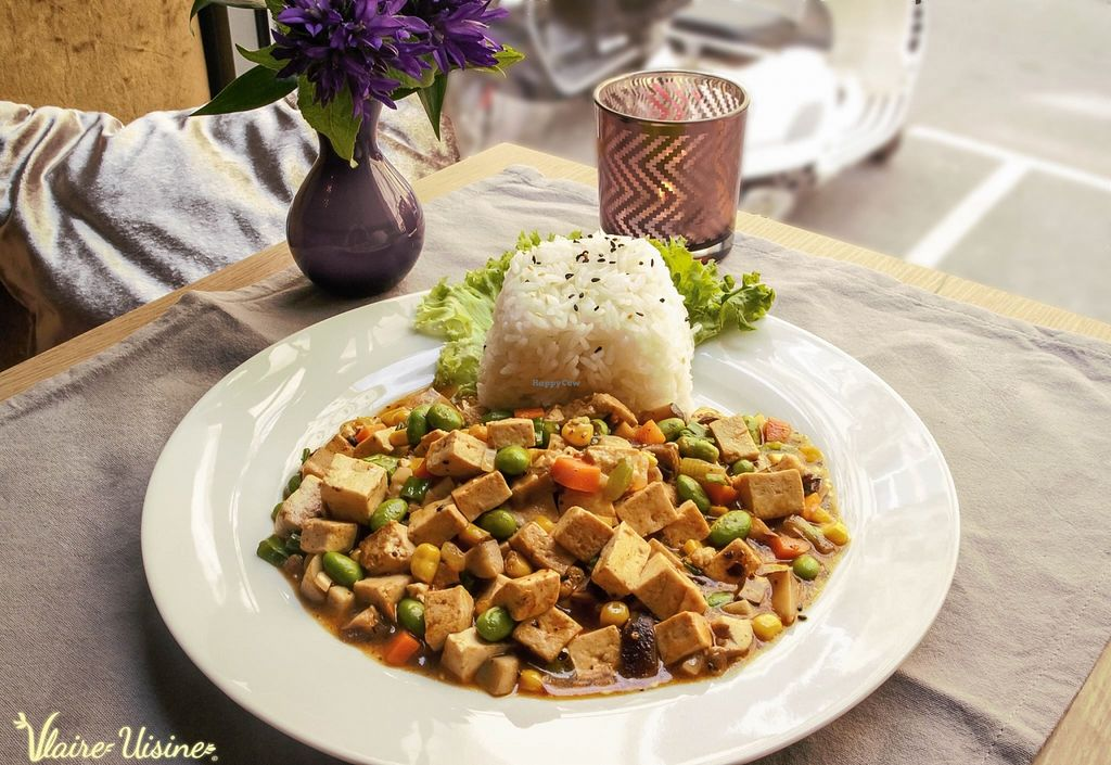 "Photo of Vlaire Uisine  by <a href=""/members/profile/animus"">animus</a> <br/>Mapo Tofu mit Soja Schinken, Mais, Edamame Bohnen, Karotten und Pilzesorten (scharf) <br/> February 15, 2016  - <a href='/contact/abuse/image/64610/136374'>Report</a>"