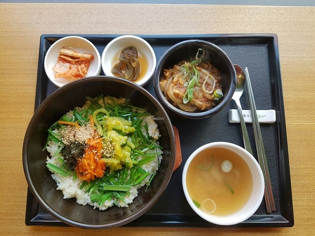 """Photo of Bonjuk and Bibimbap - 본죽&비빔밥café  by <a href=""""/members/profile/mfrenette"""">mfrenette</a> <br/>Doenjang and Bibimbab <br/> November 16, 2016  - <a href='/contact/abuse/image/64618/190753'>Report</a>"""