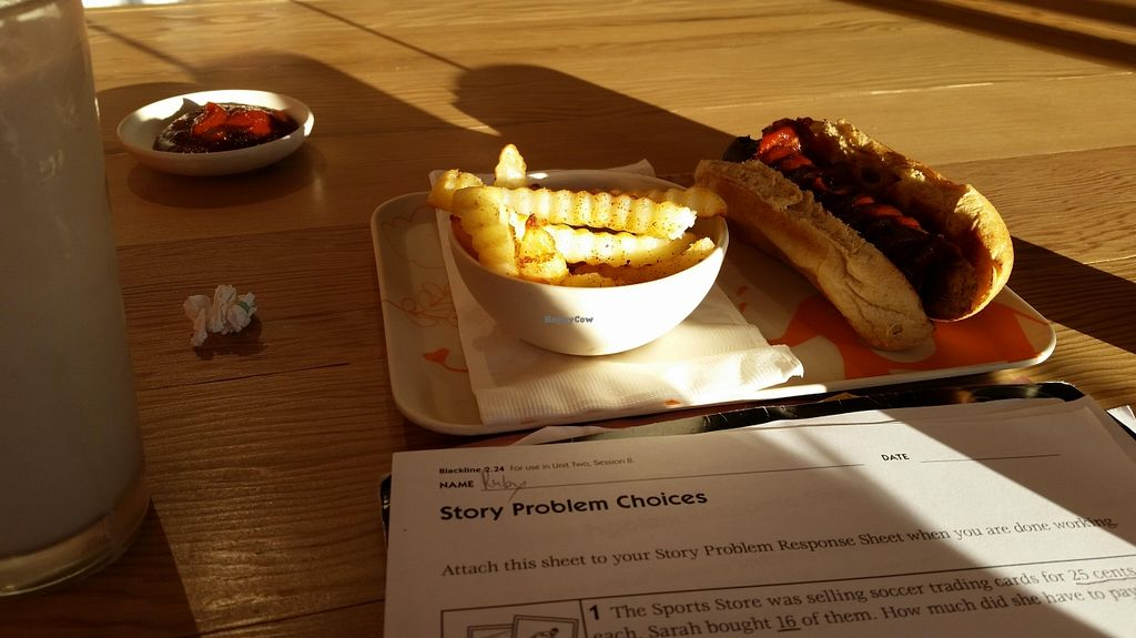 "Photo of Next Level Burger  by <a href=""/members/profile/katypine"">katypine</a> <br/>kid's meal: hot dog and fries <br/> October 24, 2015  - <a href='/contact/abuse/image/64640/122585'>Report</a>"