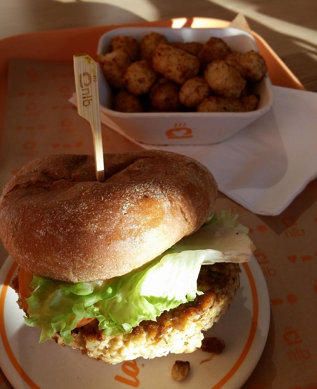 "Photo of Next Level Burger  by <a href=""/members/profile/katypine"">katypine</a> <br/>tangy tempeh burger and tots <br/> October 24, 2015  - <a href='/contact/abuse/image/64640/221654'>Report</a>"